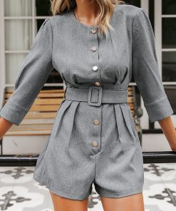 Buttons Decorated Office Romper.jpg
