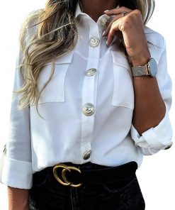 Casual Button Blouse with Pockets.jpg