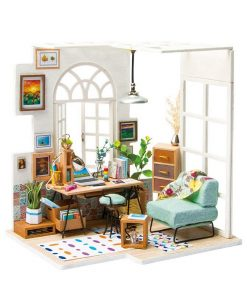 Miniature Wooden Cabinet Doll House