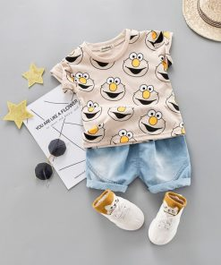 T-Shirts and Shorts with Cartoon Print