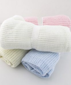 Knitted Cotton Blanket for Babies