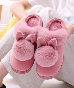 Home Slippers with Rabbit Ears