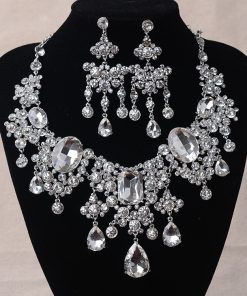 Water Drop African Crystal Jewelry Set